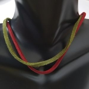 2 Set Premier Designs Suede Leather Chockers